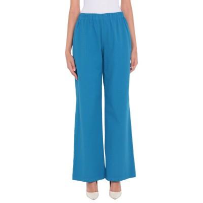 VIRGINIA BIZZI パンツ ターコイズブルー 40 コットン 98% / ポリウレタン 2% パンツ