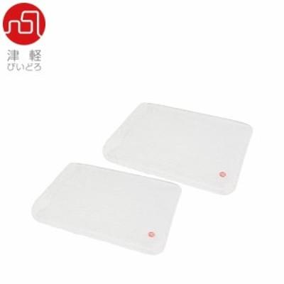プレート 津軽びいどろ ISHIME rectangle plate230(clear/matt)≪2セット≫ F-71124