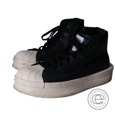 adidas by Rick Owens アディダスバイリックオウエンス CQ1848 マストドンプロモデル2 レザーハイカットスニーカー 25.5cm ブラック
