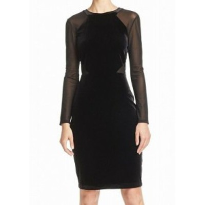 French Connection フレンチコネクション ファッション ドレス French Connection NEW Black Womens Size 0 Illusion Sheath Dress
