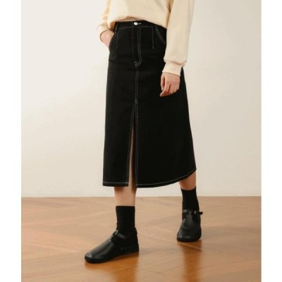 MIXXMIX レディース スカート ESSAYFront Slit Cotton Skirt