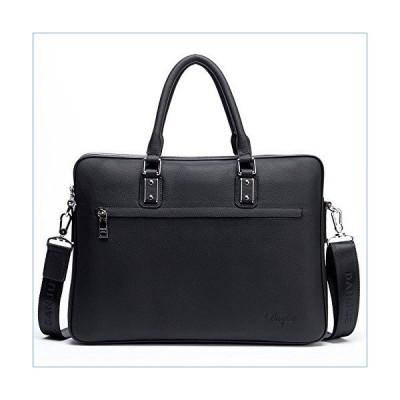 DANJUE leather men's bag simple business casual bag briefcase handbag shoulder slung men's bag fashion trend bag D8852-3 black並行輸入品