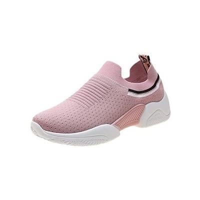 (Biokosca)スリッポン スニーカー レディース ナースシューズ 婦人靴 ウォーキングシューズ (ピンク 24.5 cm)
