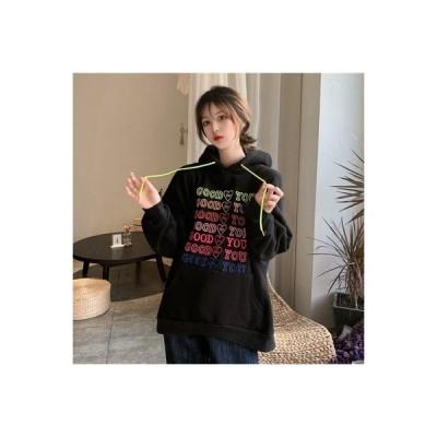 【送料無料】厚さプラス カラー 刺しゅう ルース フード付きセーター 女 秋と冬 何 | 364331_A64161-7433828