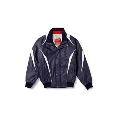 [エスエスケイ] ジャケット 蓄熱グラウンドコート フロントフルZIP+ボタン比翼付き(中綿) メンズ ネイビー×シルバーグレー (7095