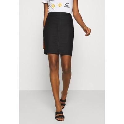 オブジェクト スカート レディース ボトムス OBJBELLE SUPERCOATED SKIRT - Pencil skirt - black