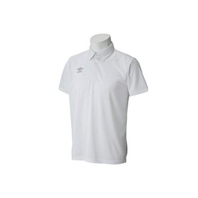 アンブロ UMBRO ワンポイントポロシャツ UCS7556 WHSV ホワイト/シルバー XO