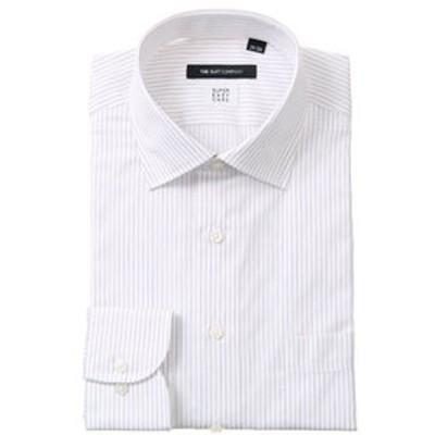 【SUPER EASY CARE】ワイドカラードレスシャツ ストライプ 〔EC・BASIC〕