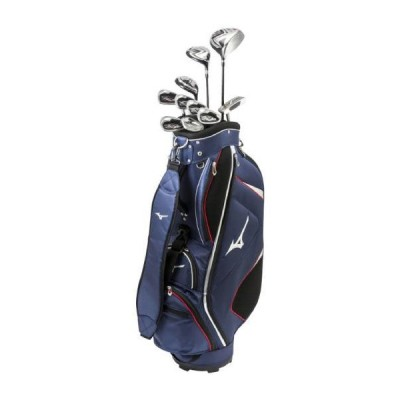 ミズノ公式 メンズゴルフクラブ10本セット/RV-7 キャディバッグ付/スチールシャフト ネイビー