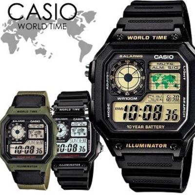 CASIO カシオ 腕時計 ウォッチ ユニセックス クオーツ 10気圧防水 ワールドタイム チープカシオ