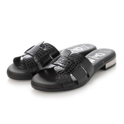 オー マイ サンダルズ Oh my Sandals クッションインソールミュールサンダル (ブラック)