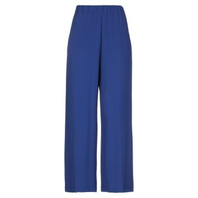 セミクチュール SEMICOUTURE パンツ ブルー 38 アセテート 69% / シルク 31% パンツ