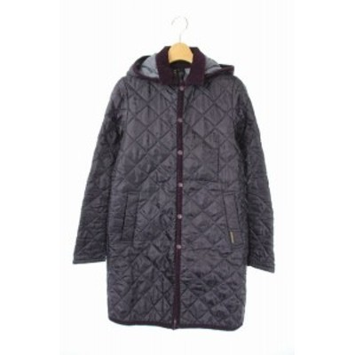 【中古】ラベンハム LAVENHAM キルティングコート 中綿 フード 36 紫 /AO ■OS ■SH レディース