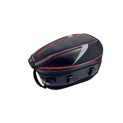 バイク用 オリジナルデザイン 炭素繊維 拡張機能あり 防水 耐久性 シートバッグ ショルダーバッグ 多用性 3色 (赤)