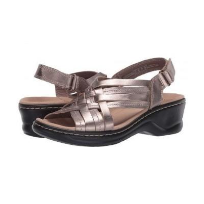 Clarks クラークス レディース 女性用 シューズ 靴 ヒール Lexi Carmen - Pewter Metallic Leather