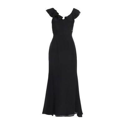 KORALLINE ロングワンピース&ドレス ブラック 40 シルク 100% ロングワンピース&ドレス