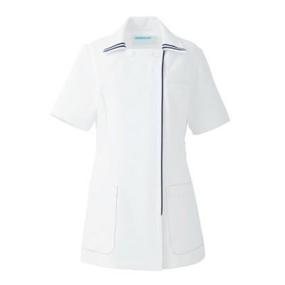 081 KAZEN レディスジャケット半袖 ナースウェア・白衣・介護ウェア