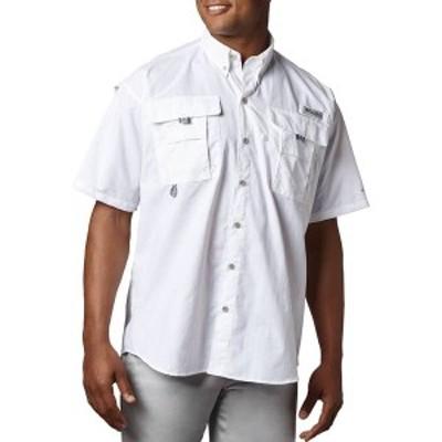 コロンビア メンズ シャツ トップス Columbia Men's PFG Bahama Button Down Shirt (Regular and Big & Tall) White