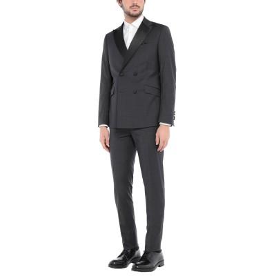 パオローニ PAOLONI スーツ スチールグレー 46 レーヨン 39% / ポリエステル 39% / バージンウール 20% / ポリウレタン