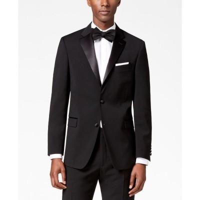 トミー ヒルフィガー メンズ ジャケット・ブルゾン アウター Men's Modern-Fit Flex Stretch Black Tuxedo Jacket