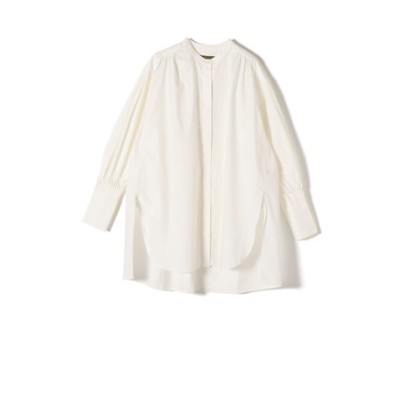【SHIPS別注】BENCH MARKING SHIRT:ボリュームタックスリーブシャツ