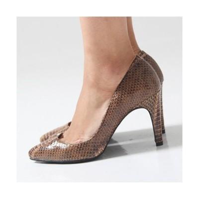 ポインテッドトゥ スネーク調 エナメル パンプス パンプス 2015 春夏 新作 アリス レディース 婦人靴