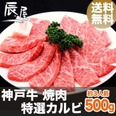 神戸牛 焼肉 特選カルビ 500g(約3人前) 送料無料  冷蔵