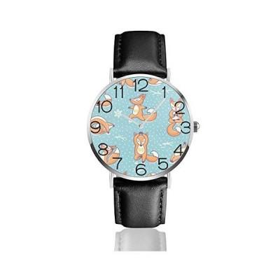 腕時計 ビンテージクリスマス赤リトルフォックス ウオッチ クラシック カジュアル 防水 クォーツムーブメン?