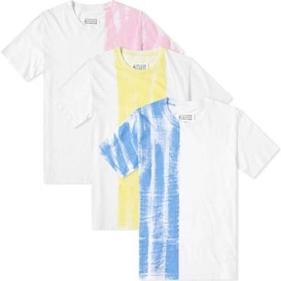 メゾン マルジェラ Maison Margiela メンズ Tシャツ 3点セット トップス 10 vacuum tee - 3 pack Blue/Yellow/Pink