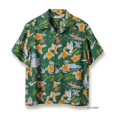 "SunSurf (サンサーフ) Lot No.SS38313/2020年モデル 半袖レーヨン アロハシャツ ""ALOHA HAWAII"""