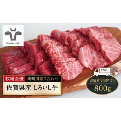 【牧場直送】佐賀県産しろいし牛 焼肉用盛り合わせセット(高級希少部位含む)800g [IAH003]