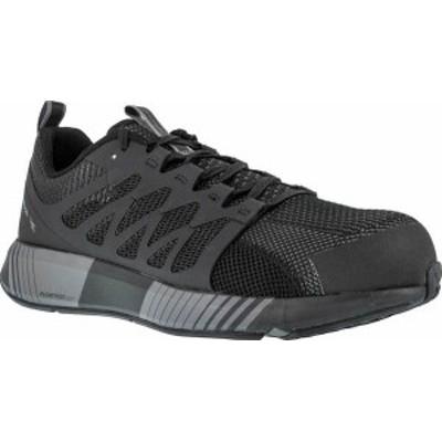 リーボック メンズ スニーカー シューズ Men's Reebok Work Fusion Flexweave Work RB4310 Comp Toe Sneaker Black/Grey Knit