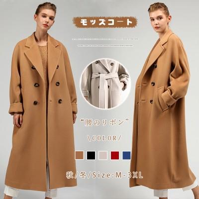韩国秋冬の新作カシミヤのラシャコートの女性 中长 厚手5color  UX144