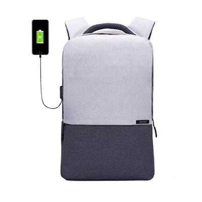 TINYATトラベルバックパック、USB充電ポート付きコンピュータバッグ、女性用、男性用