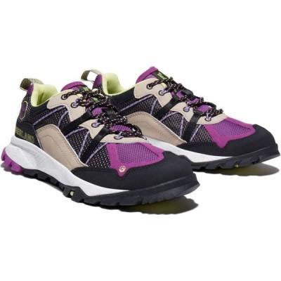 ティンバーランド TIMBERLAND レディース ハイキング・登山 シューズ・靴 Garrison Waterproof Hiking Shoe Black Mesh W Purple