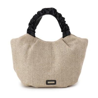 SHOO・LA・RUE / 2WAY フリルハンドル雑材トートバッグ WOMEN バッグ > トートバッグ