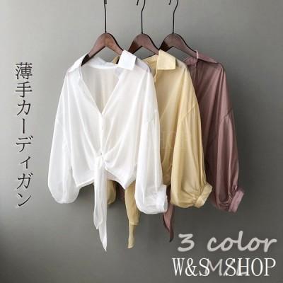 レディースカーディガシャツ夏服コート透け感日焼け止め紫外線対策UVカットおしゃれ30代40代20代