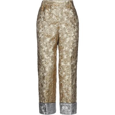ヌメロ ヴェントゥーノ N°21 パンツ ゴールド 40 ポリエステル 38% / シルク 26% / 金属繊維 19% / ナイロン 17% パンツ
