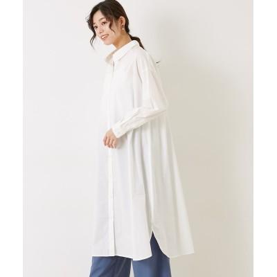 【earth music&ecology】。タイプライターシャツワンピース (ワンピース)Dress