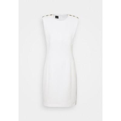 ピンコ レディース ワンピース トップス INSICURO ABITO TECNICO - Shift dress - white white