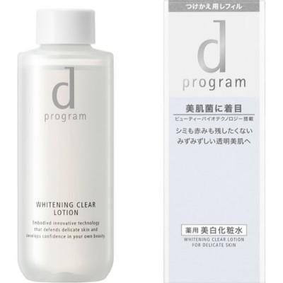 dプログラム ホワイトニングクリア ローションMB(レフィル) 敏感肌用 薬用美白化粧水 (125ml)