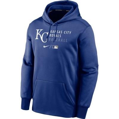 ナイキ Nike メンズ パーカー トップス Kansas City Royals AC Therma-FIT Blue Hoodie