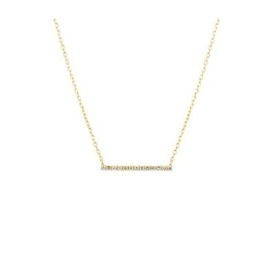 4℃ ヨンドシーネックレス 正規品 新作新品 K18イエローゴールド ダイヤネックレス ダイヤモンド バー 4ドシー 正規ラッピング 111741123019