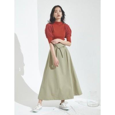 スカート タッキングワイドヘムスカート