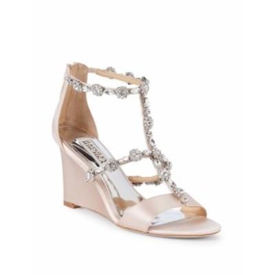 バッジリーミシュカ レディース シューズ サンダル Tabby Embellished Satin Wedge Sandals