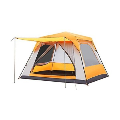 NYKK Strong and Durable Tent Super Large Automatic Tent Thick Rainproof Outdoor Tent Home 4-5 People Camping Tent Family Tent (Color : Orang