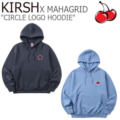 キルシー パーカ KIRSH X MAHAGRID CIRCLE LOGO HOODIE マハグリッド サークルロゴ フーディー BLUE ブルー CHARCOAL チャコール MG2BSUM400BCH/BL ウェア