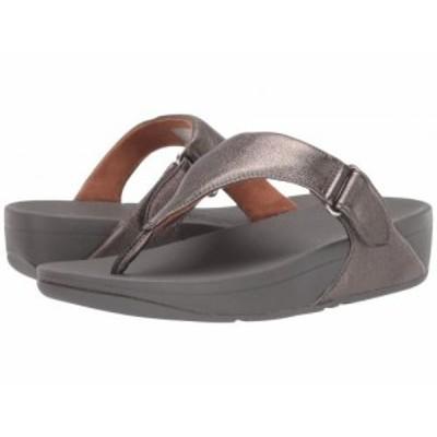 FitFlop フィットフロップ レディース 女性用 シューズ 靴 ヒール Sarna Toe Thong Sandal Pewter【送料無料】