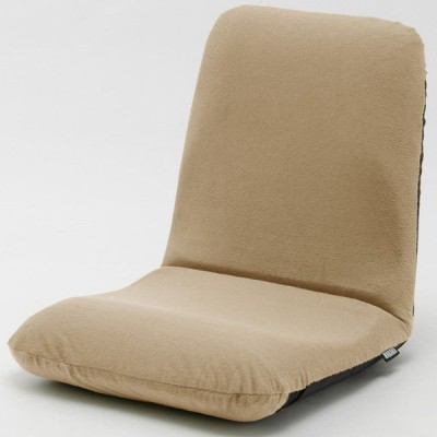 セルタン 座椅子 和楽チェア Mサイズ 幅430×奥行510〜850×高さ110〜470mm テクノベージュ (直送品)