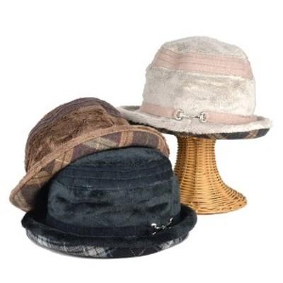 シールリング付円裏格子セーラー レディース帽子